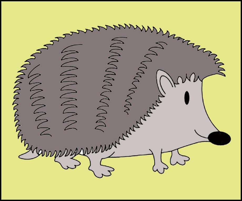 How to color a simple hedgehog