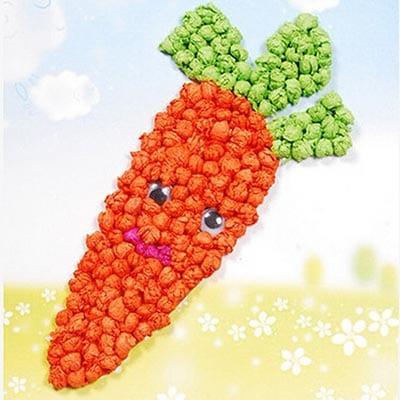 Морковка из бумажных шариков