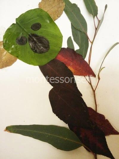 Коала из листьев