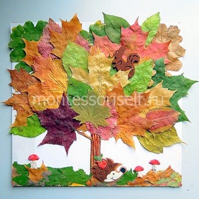 Дерево из листьев