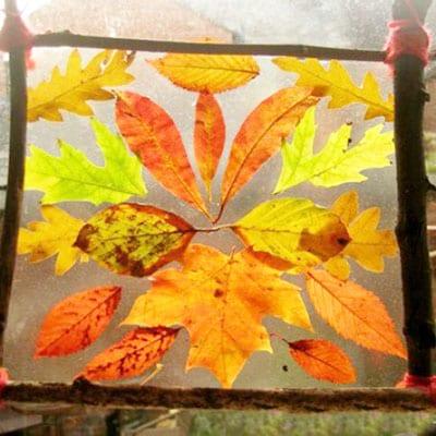 Осеннее панно из листьев