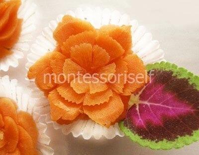 Цветок из морковки
