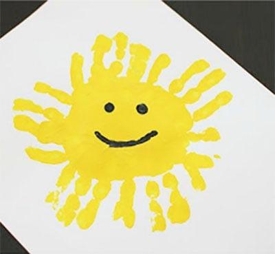 Солнышко из отпечатков