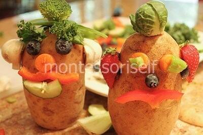 Человечки из картошки