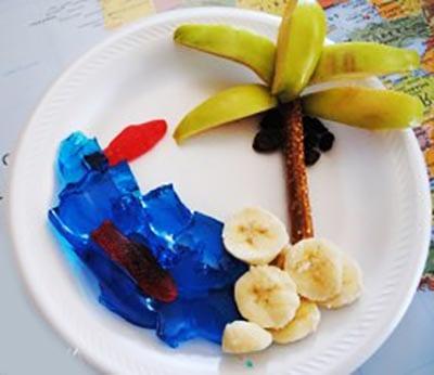 Картина из фруктов