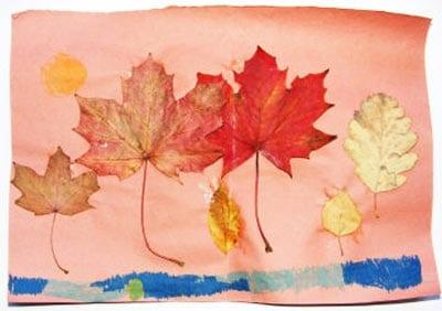Пейзаж из кленовых листьев