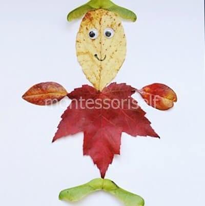 Человечек из листьев