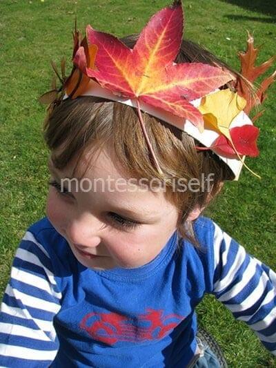 Осенняя корона для ребенка