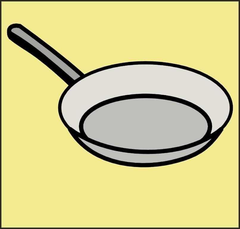 Цветная сковорода