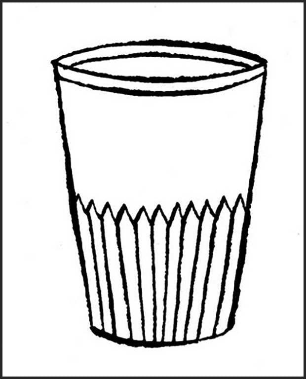 Раскраска стакан