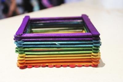 Разноцветные стенки шкатулки