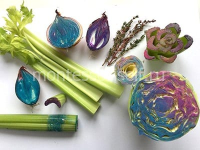 Штампики для рисования из овощей и зелени