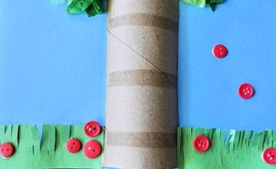 Ствол из картонного рулона