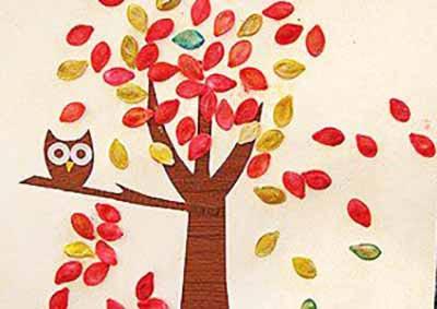 Осеннее дерево с совой