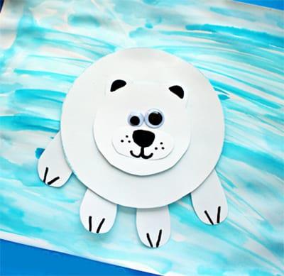 "Аппликация ""Белый медведь"""