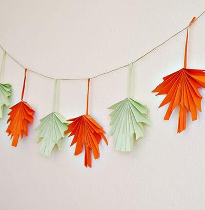 Осенняя гирлянда из бумаги