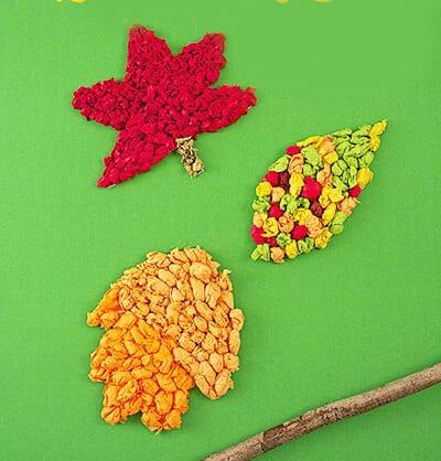 Поделки из комочков бумаги на тему осень