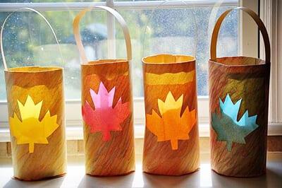 Осенний фонарик-туесок