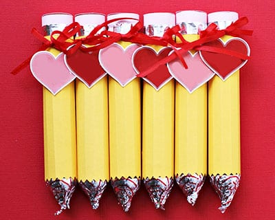 Pencils from sweets