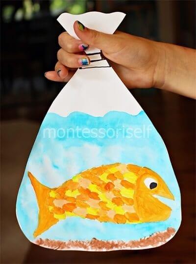 Пакет для рыбки из бумаги