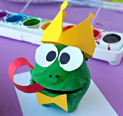 Принц-лягушонок из бумаги