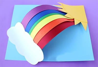 Как сделать поделку радугу 59