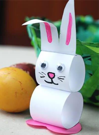Поделка из бумаги заяц