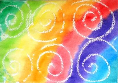 """Рисунок мелками """"Спиральки"""""""