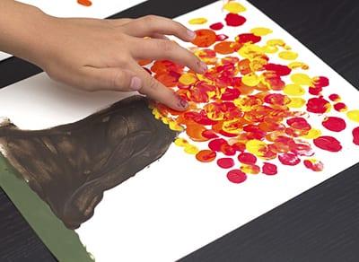Осенний рисунок пальчиками