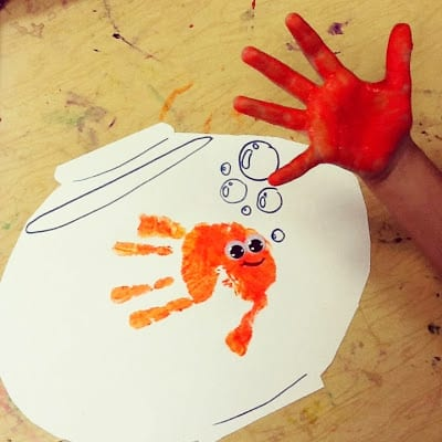 "Рисунок из отпечатка ""Рыбка"""
