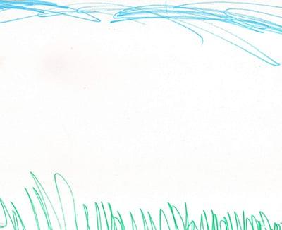 рисунок линиями небо и трава