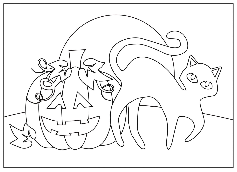 Раскраска атрибуты Хэллоуина