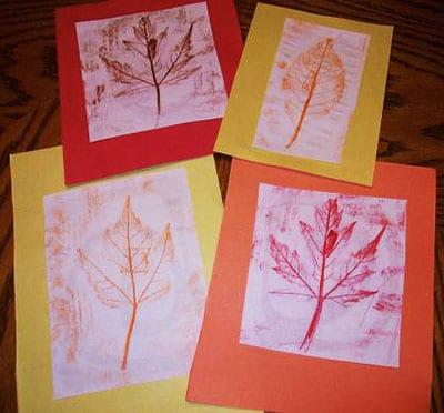 Осенний рисунок мелком