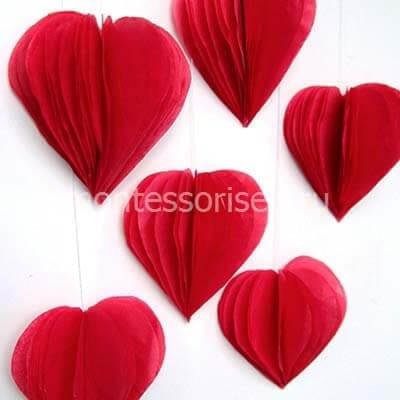 Объемные сердечки для украшения