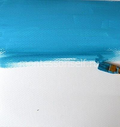 Покрываем лист слоем гуаши