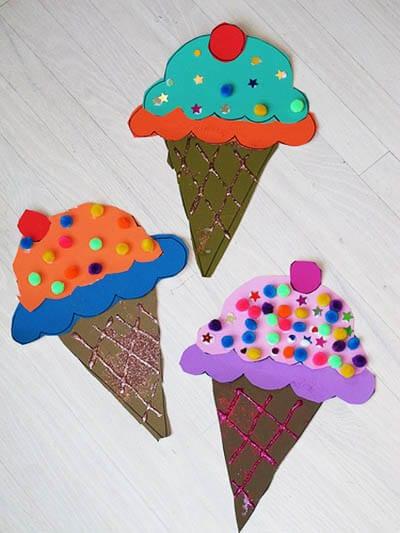 Мороженое со стразами