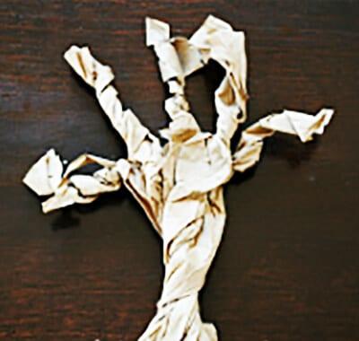 Дерево из бумаги