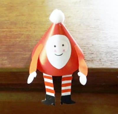 Дед Мороз из картонного конуса