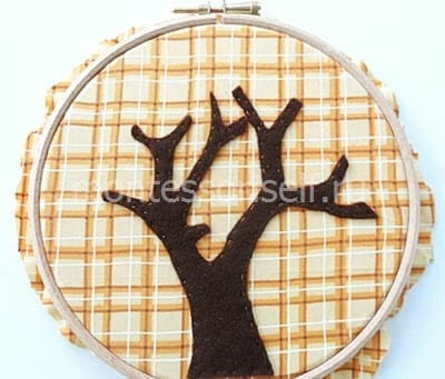 Пришиваем контур дерева