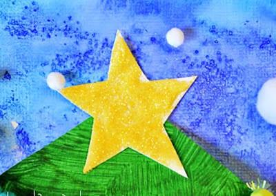 Звезда из бумаги и снег из ваты