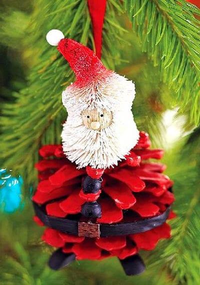 Дед Мороз из шишки своими руками