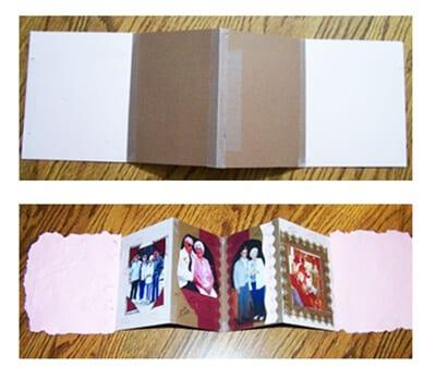 Рамка для фото в виде раскладушки