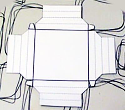 Развертка для рамки из картона