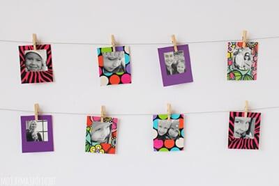 Рамки для фото из картона и клейкой ленты