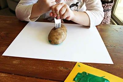 Рисунок картошкой