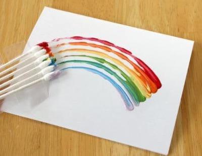 Рисунок ватными палочками