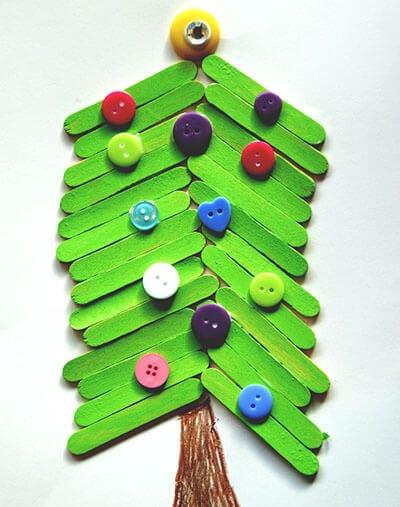 Аппликация новогодняя елка