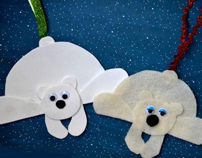 Подвески белые мишки