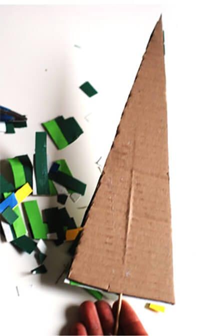 Елочка из картона