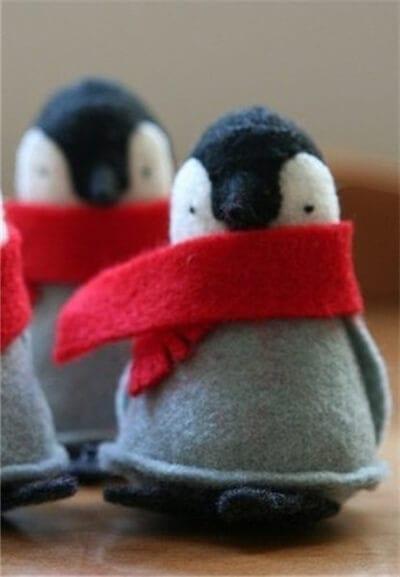Пингвин из фетра